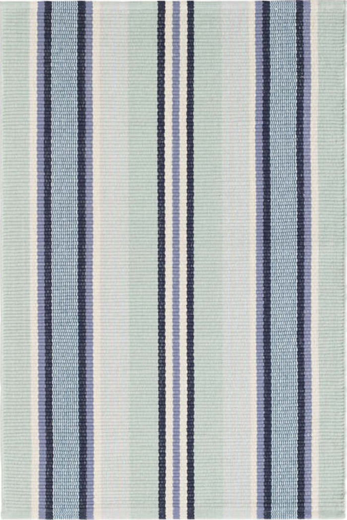 BARBADOS STRIPE WOVEN COTTON RUG