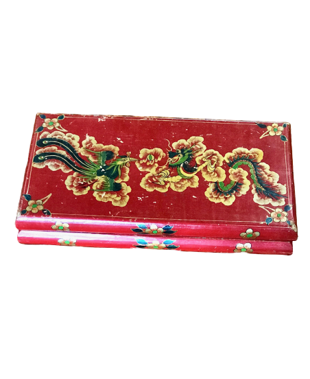 Large, Painted Tibetan Lacquer Box