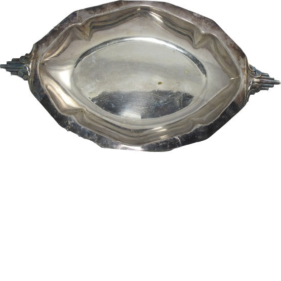 Art Deco Oval Silver Dish