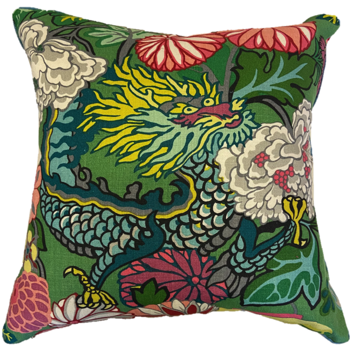 Chiang Mai Dragon Throw Pillow w/ Feather Insert