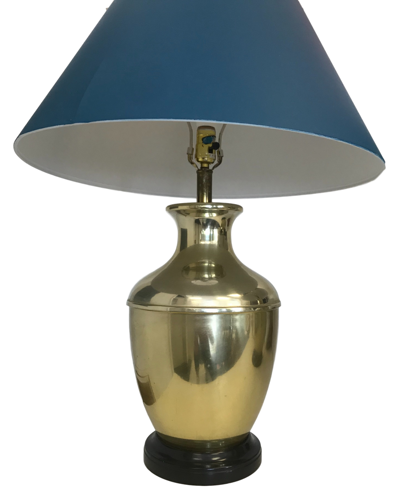 Pair of Overscale Brass Lamps