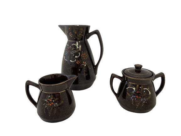 Hand-Painted Ceramic Pitcher Set