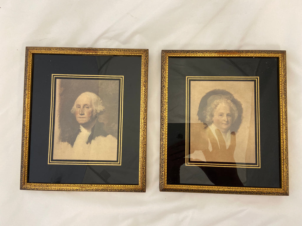 Pair of Framed Prints - George & Martha Washington