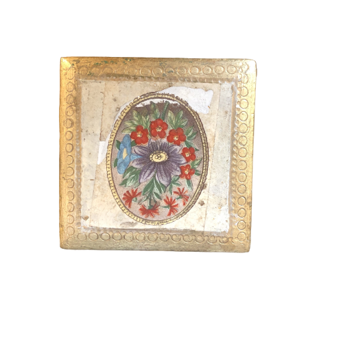 Italian Decorative Box with Floral Decoupage