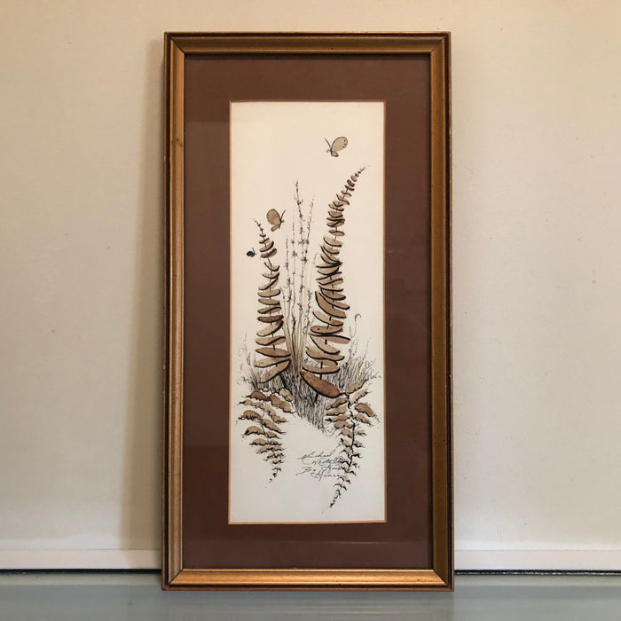 Michael White Pen & Ink Drawing, Signed & Framed