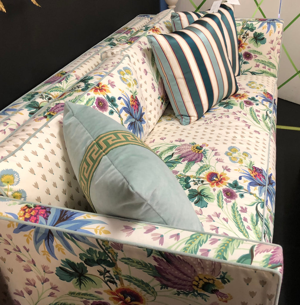 Wesley Hall Small Sofa in Duralee Cotton Floral Print
