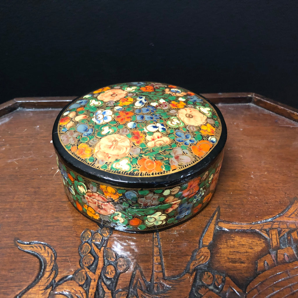 Box Set of Hand-Painted Lacquer Coasters