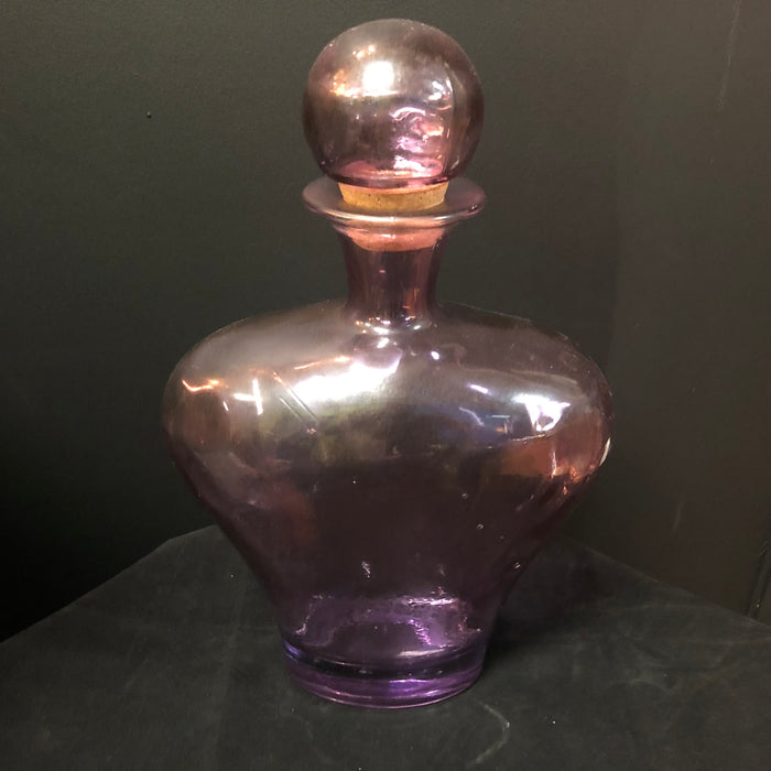 Vintage Medium Purple Glass Decanter