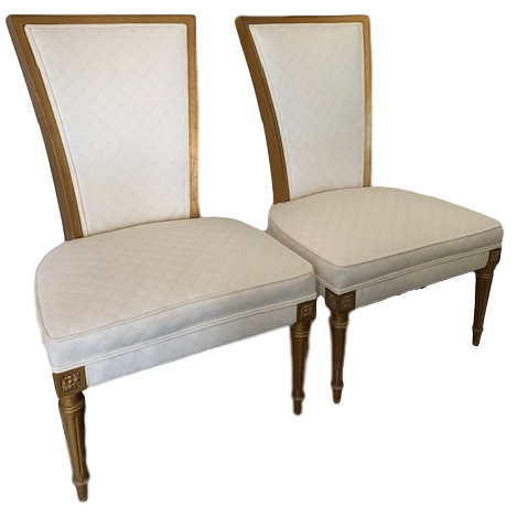 Pair of High-Backed Occasional Chair Louis XVI 1960s Revival