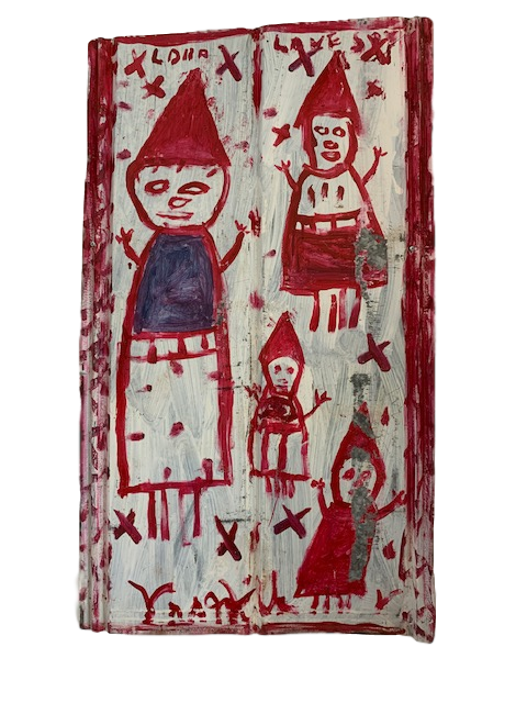 "Original Outsider Art Folk Artist R.A. Miller ""Lord Love You"" (Featuring Gnomes)"