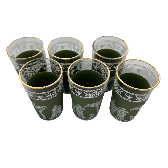 Hellenic Green Juice Glass Set of 6