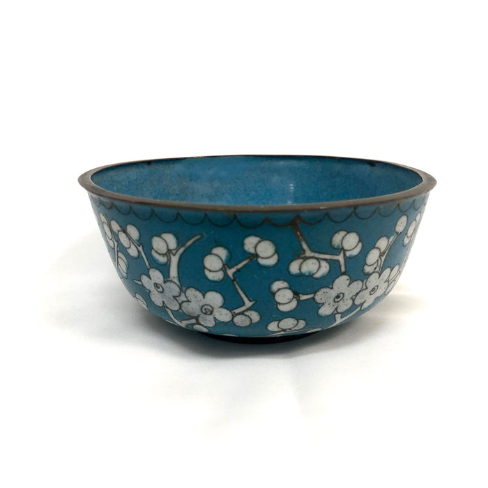 Blue & White Cloisonné Bowl