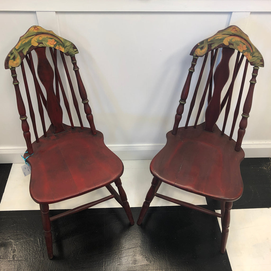 Hand-painted Red Chairs