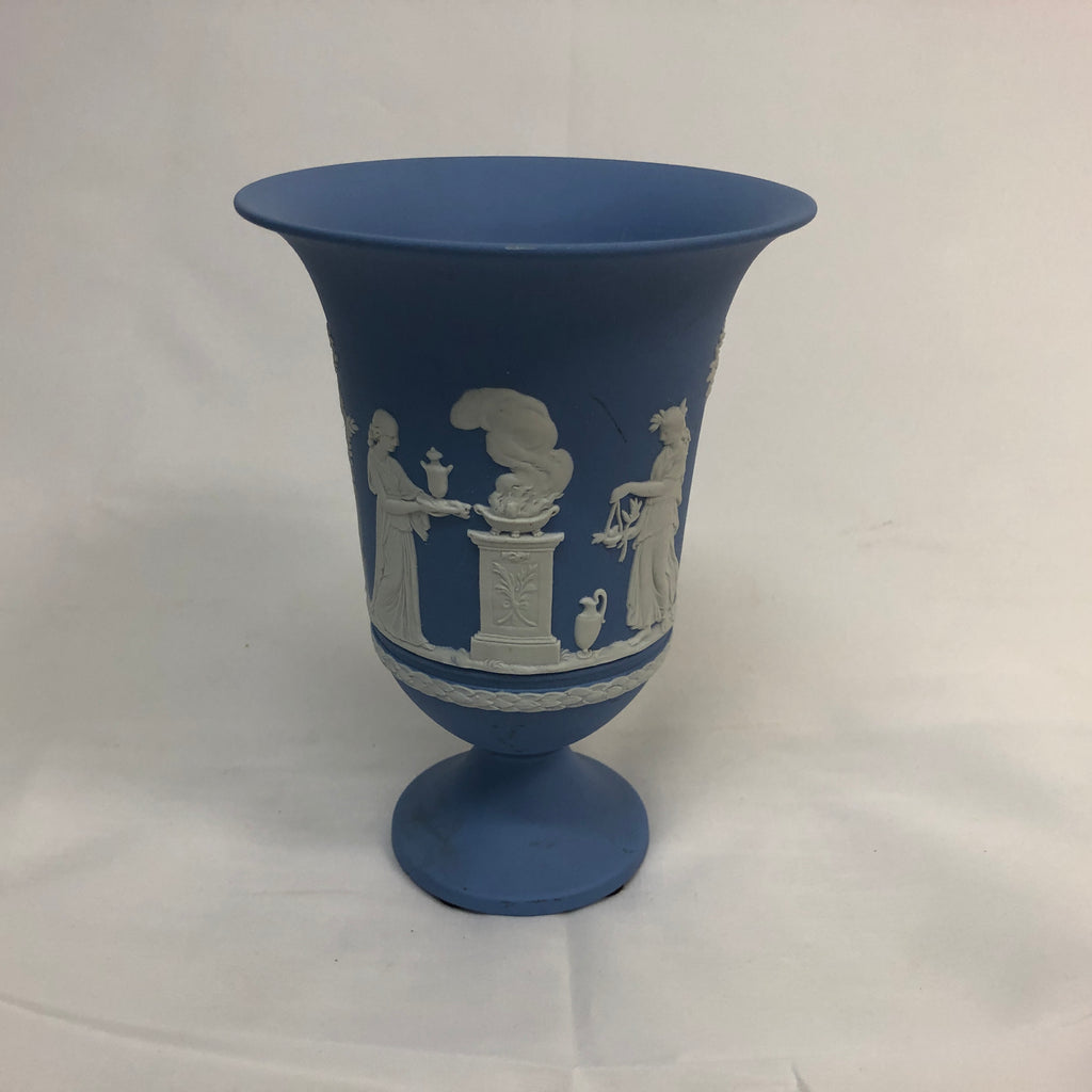 Wedgeware Blue Jasperware Vase