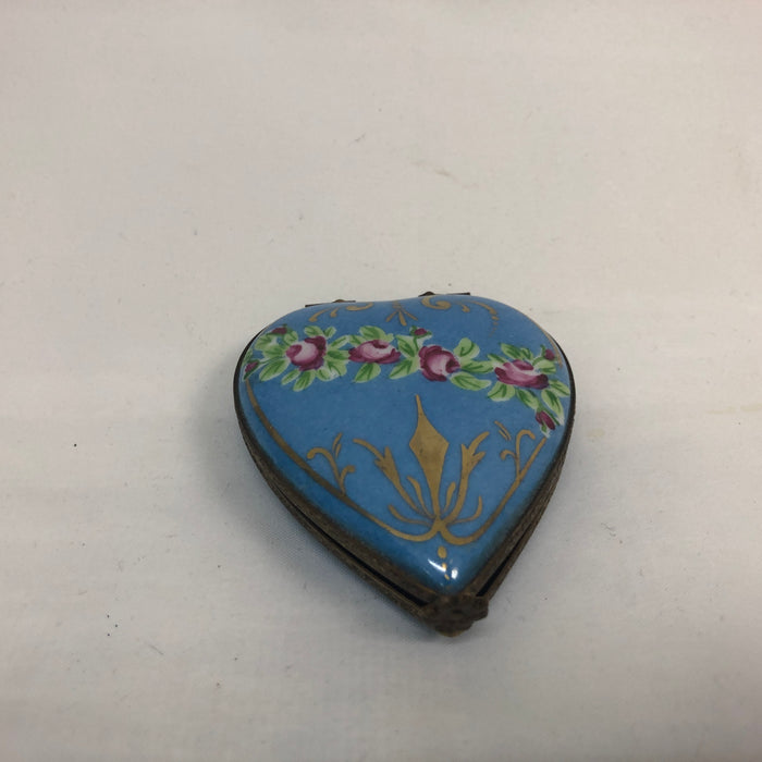 Vintage Limoges Heart-Shaped Box