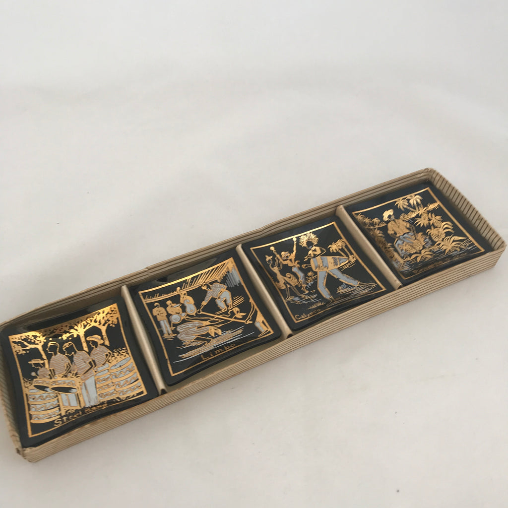 Carribean Gold Leaf Souvenir Dish Set
