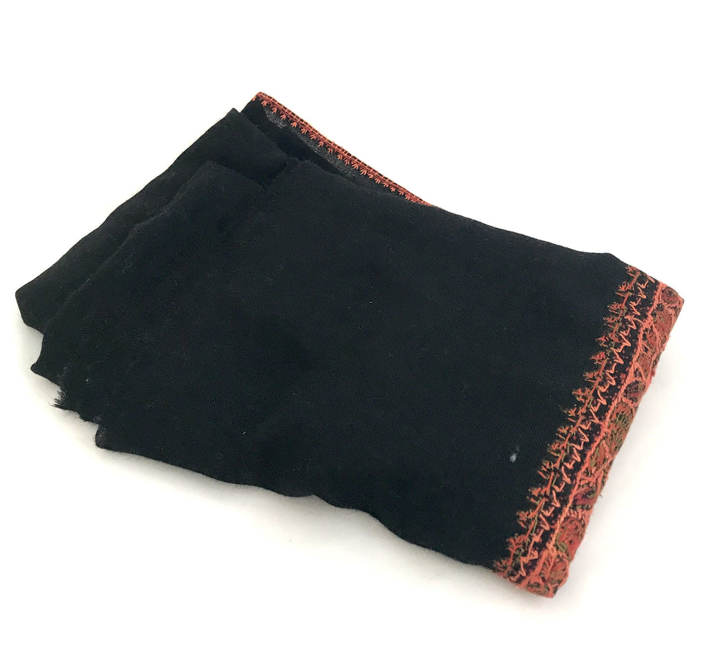 Pashmina Wool (100%) Shawl with Hand Embroiderey