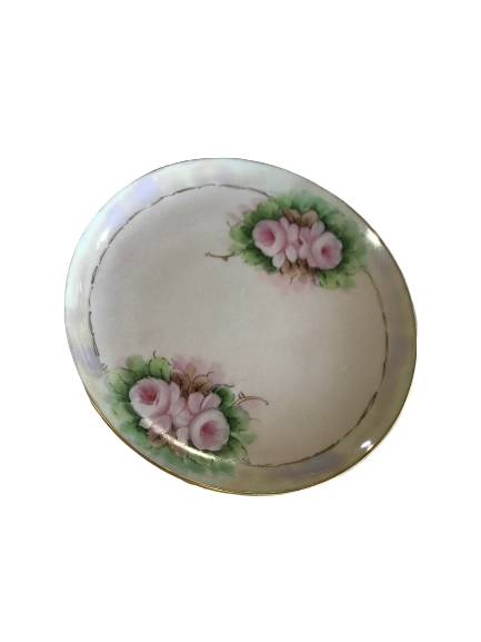 Decorative Plate with Painted Roses