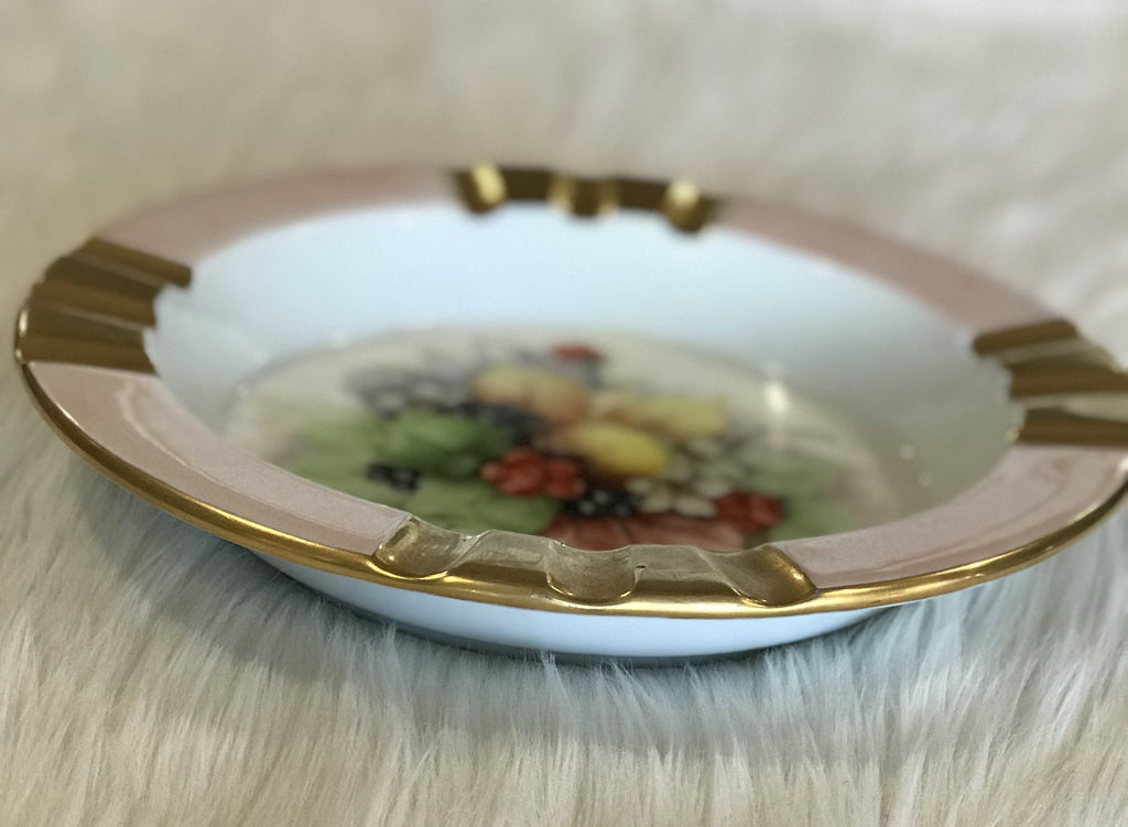 Decorative Bowl with Painted Berries