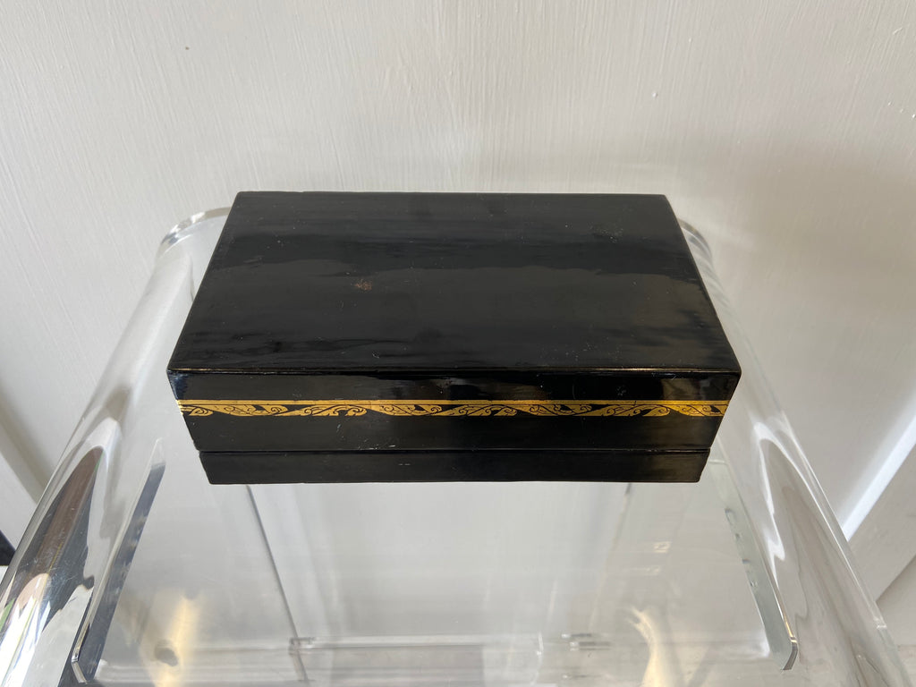 Japanese Lacquer Box with Hinge