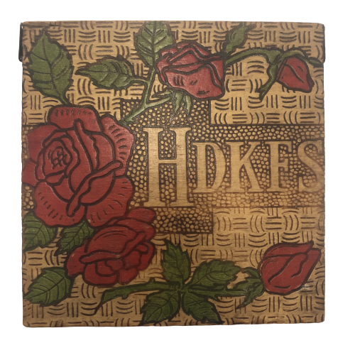 Cigar Box Tramp Art Roses Design