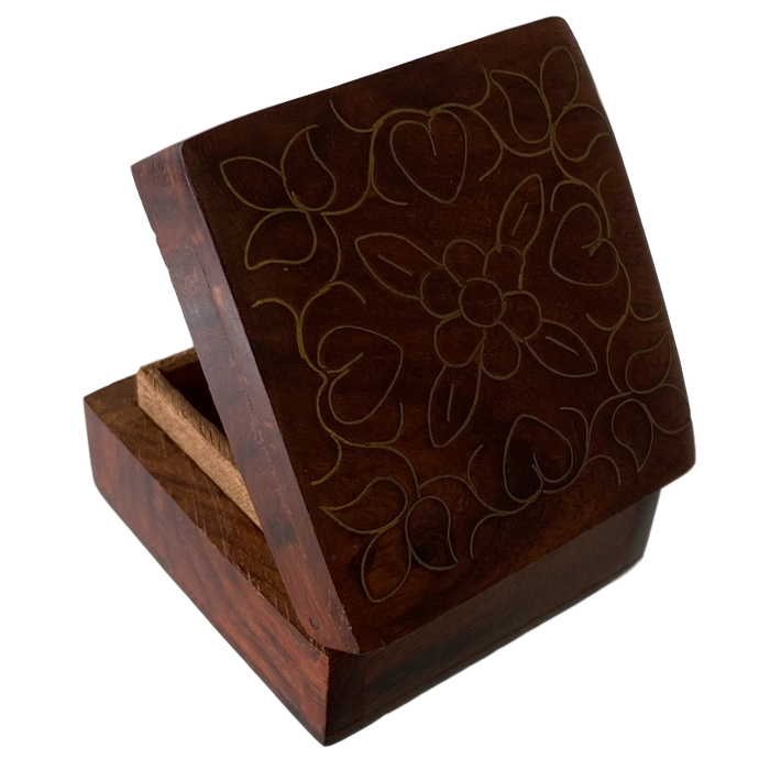 Brass Inlay Decorative Box