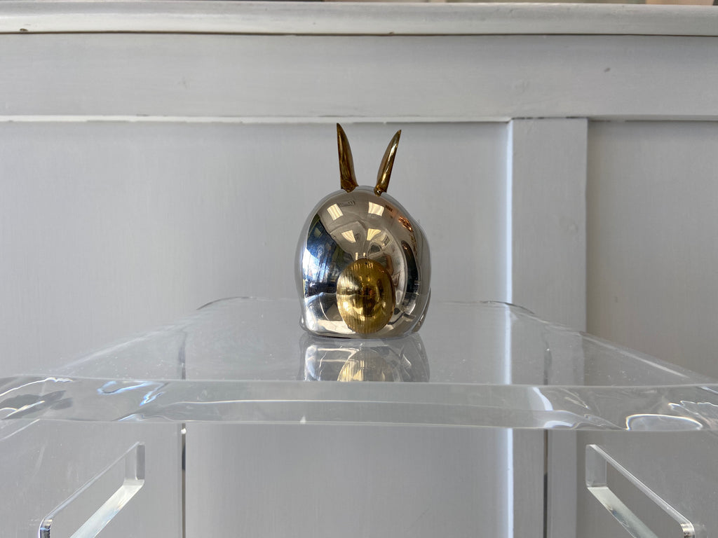 Chrome and Brass Bunny