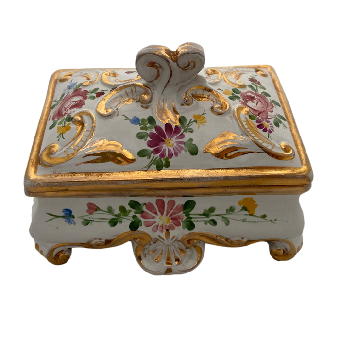 Hand Painted Deruta Ceramic Jewelry Box