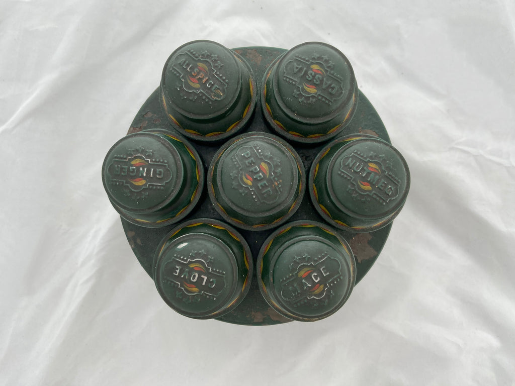 Antique Tin Spice Round