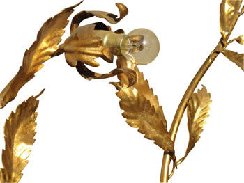 Large Gold Sculptural Sconce
