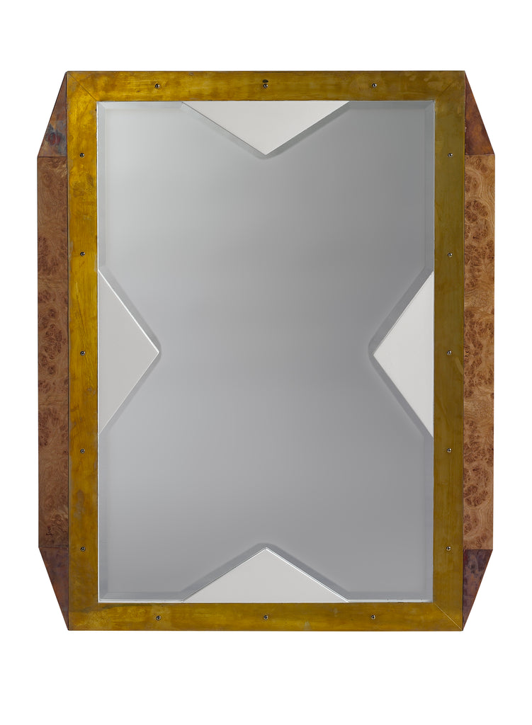 As seen in the 2017 Traditional Home Dallas Showhouse, The Last World Mirror with its shimmering beveled detail adds an elegant touch of jewelry to any room. This piece from The Facet Collection was designed by Michelle Workman for French Heritage and is perfect for anyone looking to achieve that luxurious, high-end look in their home. Shown here in the Vanilla finish.