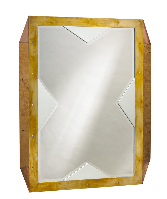 As seen in the 2017 Traditional Home Dallas Showhouse, The Last World Mirror with its shimmering beveled detail adds an elegant touch of jewelry to any room. This piece from The Facet Collection was designed by Michelle Workman for French Heritage and is perfect for anyone looking to achieve that luxurious, high-end look in their home. Shown here in the Wintergreen finish.
