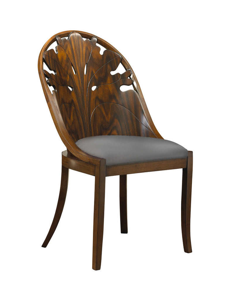 The Pink Lady Side Chair is sure to add flare to your dining room set-up! This piece from The Facet Collection was designed by Michelle Workman for French Heritage and is perfect for anyone looking to achieve that luxurious, high-end look in their home. Shown here in the Rosewood finish.