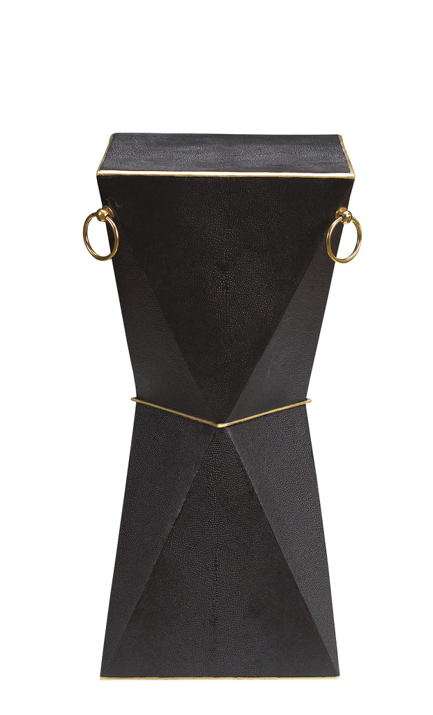 "Featured in Home Design & Decor's ""Best of Guide 2017"", the Mimosa End Table is perfect to hold your special cocktail. This piece is a versatile, Art Deco-inspired accent table that is available in 7 of our signature colors! This piece from The Facet Collection was designed by Michelle Workman for French Heritage and is perfect for anyone looking to achieve that luxurious, high-end look in their home. Shown here in the Coalmine finish."