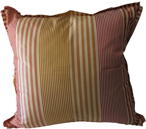Silk Stripe Throw Pillow with Feathered Insert