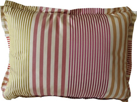 Small Striped Silk Lumbar Pillow
