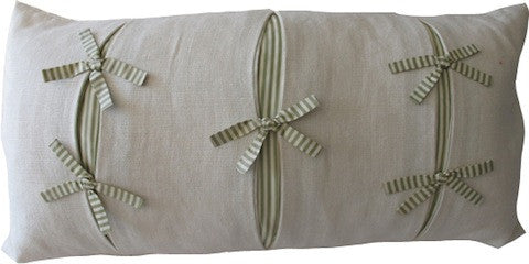 Small Bow and Pleats Pillow