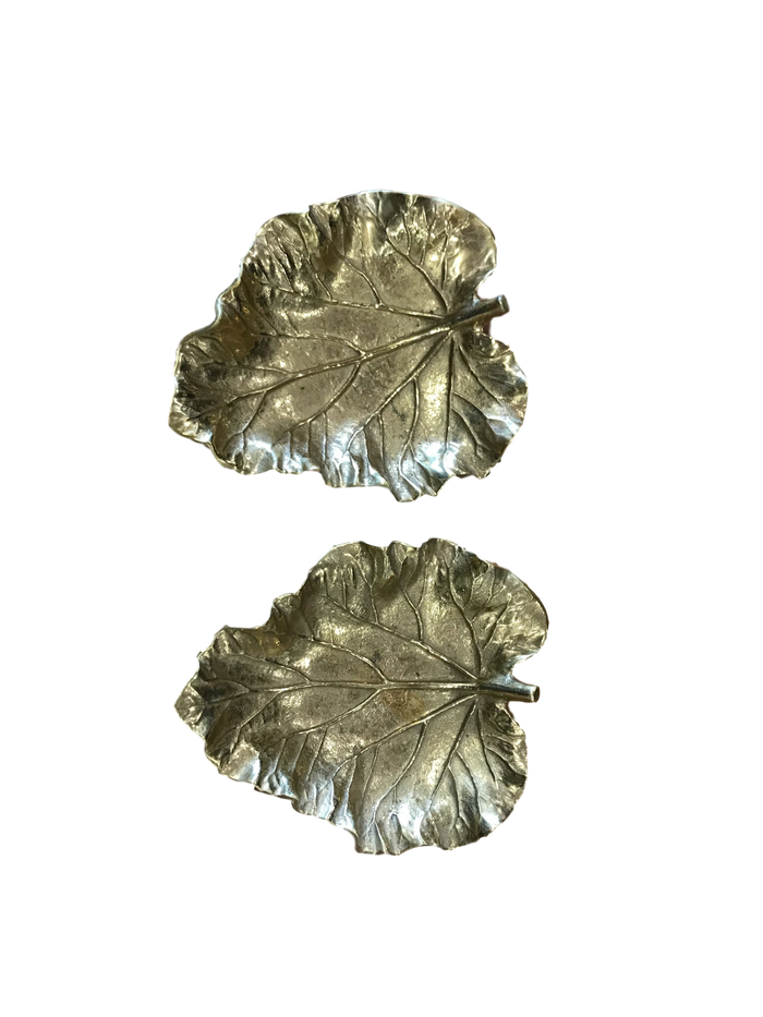 Brass Leaf Dishes