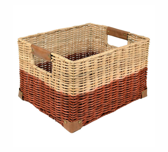 Record Basket in Red