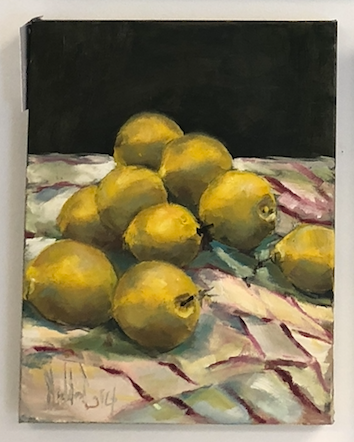 Lemons Painting by Corey Maddin