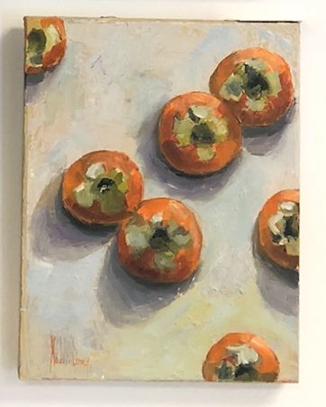 Persimmons Painting by Maddin Corey