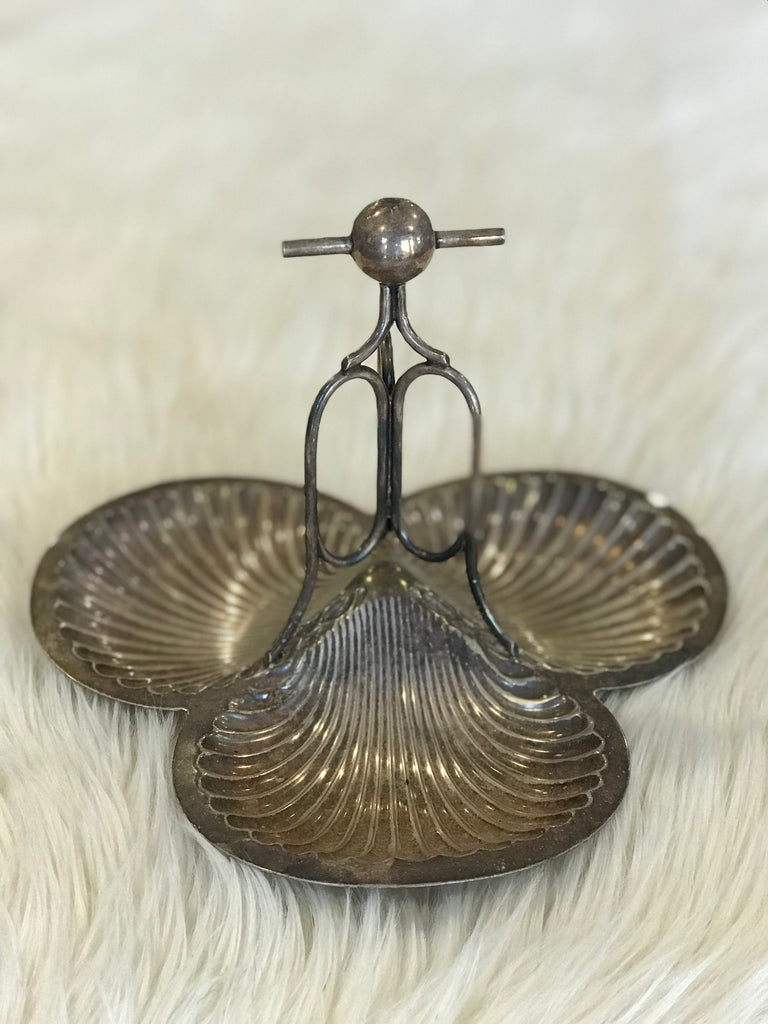 Silverplate Shell Dish