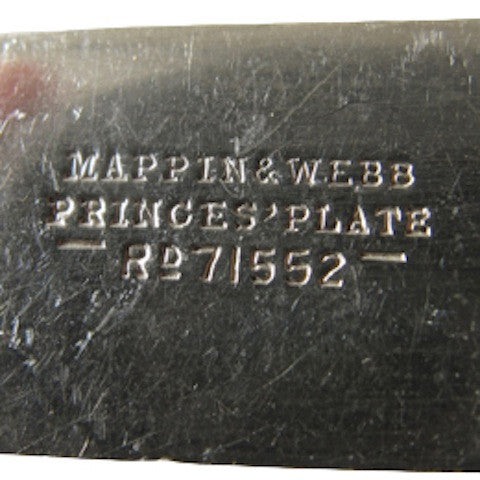 Stamp on antique, bone handle knives. Produced by Mappin & Webb circa 1887.