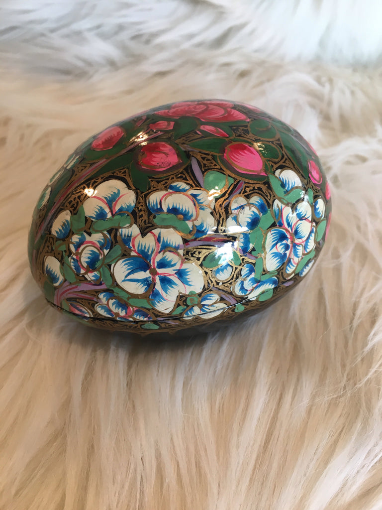 Lacquered Hand Painted Decorative Box