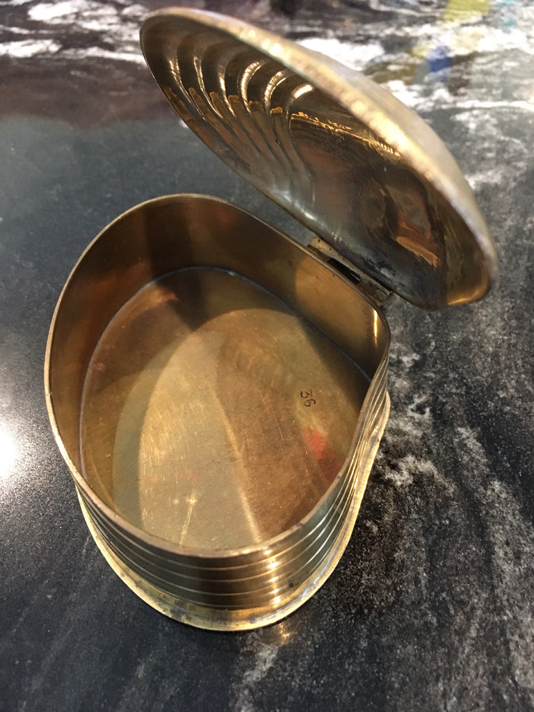 Brass Hinged Clamshell Box