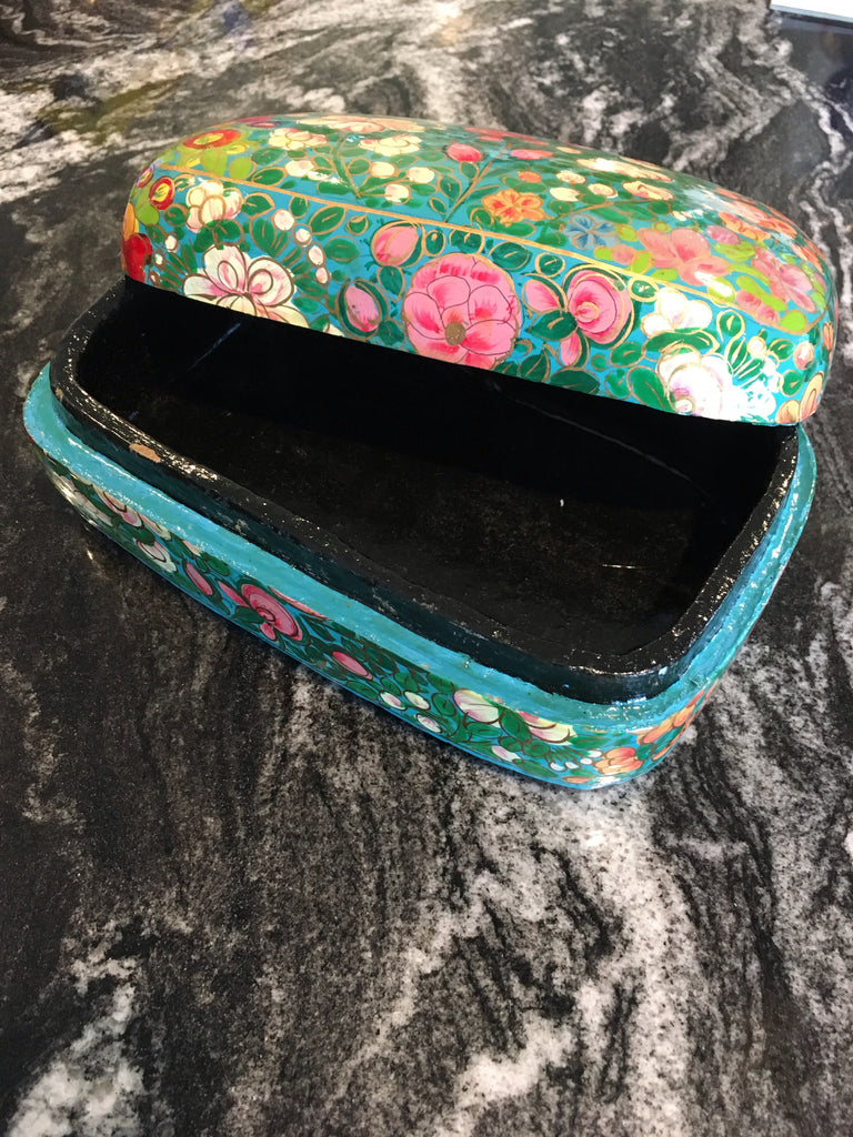 Hand Painted Floral Lacquered Box