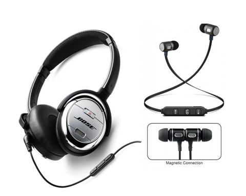 Premium Priced Bose Headphones vs. Affordable Reiko Earbuds