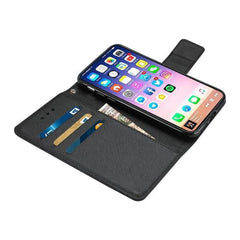 Reiko iPhone X Wallet/Folio Phone Case 3-in-1 Open Black