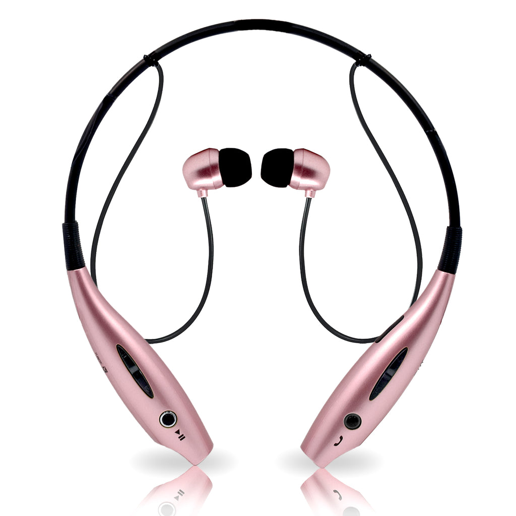 Universal Wireless Bluetooth Stereo 3D Neckband Headset Rose Gold by Modes