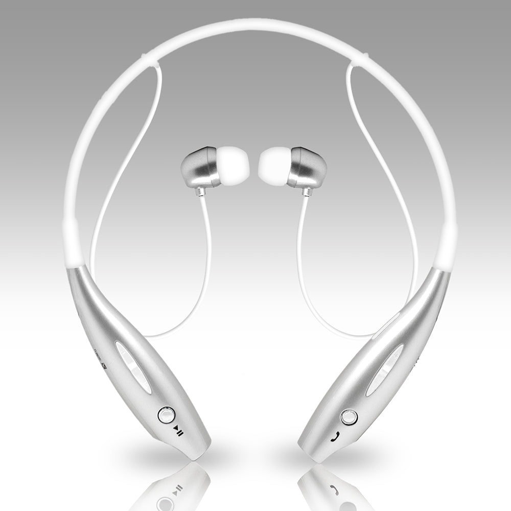 Universal Wireless Bluetooth Stereo 3D Neckband Headset Silver by Modes